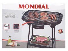 Churrasqueira Elétrica Mondial 1800W - Suporte com Prateleira - Weekend II CH-02 com as melhores condições você encontra no Magazine Scvl. Confira!