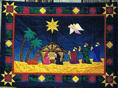 Royal Nativity Applique Christmas Quilt Pattern by Sagebud Designs and Coral Love at Creative Quilt Kits
