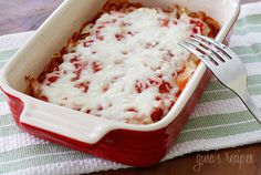 Spaghetti Squash Lasagna.... My husband asks for this almost every week.... SO GOOD!!! and really easy.   thanks, skinnytaste.com