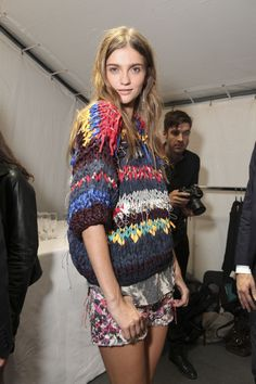 Isabel Marant backstage. #icouldknitthat but it wouldn't look the same on me...