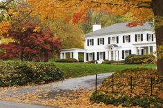 Colonial in fall