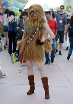 Haha! Sexy Chewbacca at San Diego Comic-Con 2012