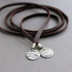 Lariat Necklace Soft Deerskin Leather Brown by LynnToddDesigns, $49.00