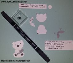 Polar Bear Punch Art. Using Foxy Friends Stamp Set and Foxy Builder Punch from Stampin' Up!