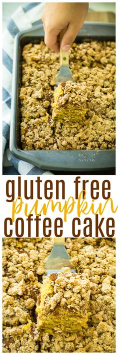 This Gluten Free Pumpkin Coffee Cake is hearty, easy to make, and infused with delicious pumpkin flavors. It's perfect for holiday gatherings and cozy afternoons alongside coffee or tea. @Walmart #AD #DelightfulMoments