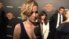 The Hunger Games: #Mockingjay Part 1: #JenniferLawrence #Cannes red carpet interview