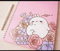kawaii, molang, and cute afbeelding Stationary School, Cute Stationary, Kawaii Shop, Kawaii Cute, Lolita Anime, Choses Cool, Molang, Cute School Supplies, Kawaii Stationery