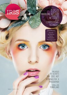 Print Ready Magazine Templates for InDesign, Illustrator, Photoshop and More, Pick-up one, they are very easy to customize. Iris, Magazine Template, Portrait Art, Magazine Design, Graphic Design Inspiration, Art Direction, Fashion Photography, Photoshop, Templates