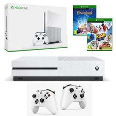 KONSOLA XBOX ONE S 1TB + 2 PADY + 2 GRY Xbox One S 1tb, Group, Console