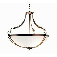 2nd Ave Design Focus 3 Light Inverted Pendant Finish: Tuscan Ivory
