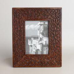 One of my favorite discoveries at WorldMarket.com: Espresso Carved Wood Deja Frame