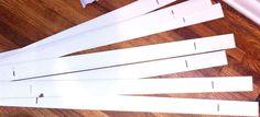 Hometalk :: Board and Batten Backsplash With Leftover Faux Wood Blinds
