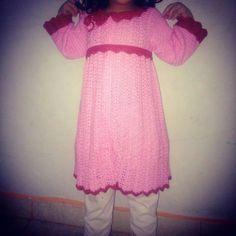 Handmade-crochet dress for kid <3 bahan benang rayon viscose grade A yang lembut dan adem <3 belt bisa dilepas <3 made by order, bisa request size dan model <3 fp: Griya Zanza 'Crochet'