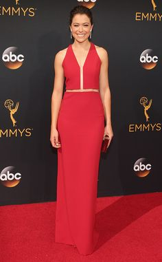 Tatiana Maslany 2016 Emmys... Pretty, the bridal options for this is endless. The only limitation is the budget. For the modern 'tradition bride'.