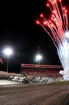 Four wide at the Goodyear Knoxville Nationals - Frank Smith photo
