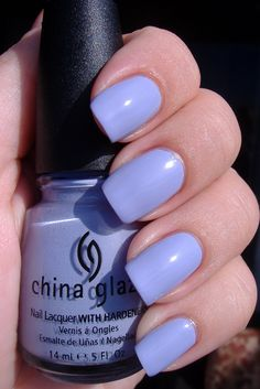 China Glaze ~ Agent Lavender. | by Ms. Katee @ e-polishblog. #lavendercreme #bluenailpolish #bluenails