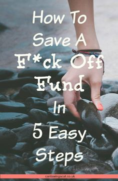 Can't Swing a Cat - A 5 Step Guide To Saving Your Own F*ck Off Fund | Can't…