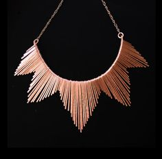 Copper Necklace  Egyptian Collar Inspired  by JamieSpinello