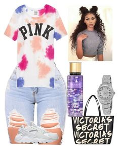 A fashion look from December 2017 featuring victoria secret tees, nike shoes and tote hand bags. Browse and shop related looks. Boujee Outfits, Cute Lazy Outfits, Baddie Outfits Casual, Swag Outfits For Girls, Teenage Girl Outfits, Cute Swag Outfits, Chill Outfits, Teenager Outfits, Dope Outfits
