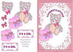 congratulations new baby girl, a very special first card for the new little girl.
