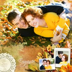 ENGAGED - Kellie and Daniel - Love is in the air for Sweethearts, Kellie Miles and Daniel Wagner, engaged to be married 9 March 2002 in the Mesa AZ LDS Temple.  Template: Vintage Charm 1 by Heartstrings Scrap Art http://www.digitalscrapbookingstudio.com/personal-use/templates/vintage-charm-1/ Kit: Hello Autumn by Booland Designs http://www.digitalscrapbookingstudio.com/personal-use/kits/hello-autumn-the-page-kit/