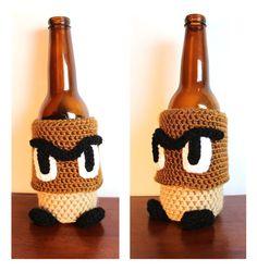 Goomba-inspired Cozy   Super Mario Brothers Nintendo NES Crochet