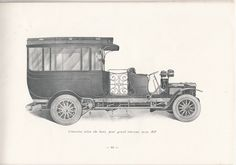 A luxurious limousine from Darracq-Serpollet, around 1900, Suresnes, France #booktower