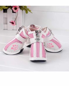 HUFT Soft Designer Dog Shoes Pink Size 8-