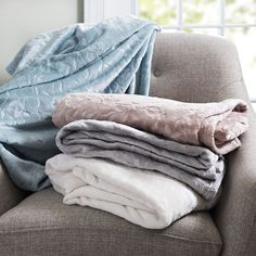 When is a blanket more than a blanket? When it's a work of art! Our Paloma Throws are embossed with leaves and florals, making them just as beautiful as they are cozy.