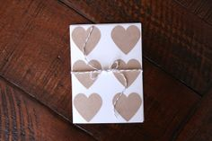 12 1.5 Inch Rustic Kraft Heart Stickers // #envelopeseals #stickers #rustic #wedding #weddingstickers #love #stationery #stationary #paperlaced #hearts