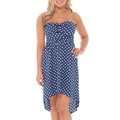 dots and spots strapless dress