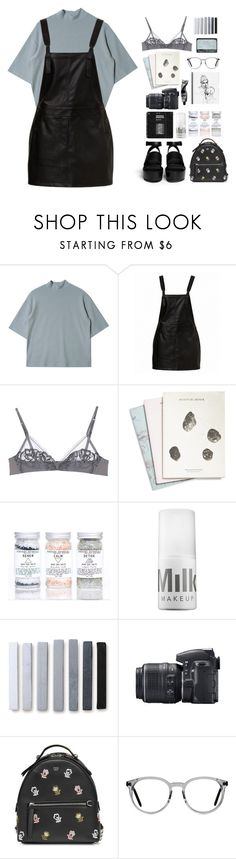 """Untitled #113"" by mooonfruit ❤ liked on Polyvore featuring La Perla, Maison Scotch, MILK MAKEUP, Aesop, Nikon and Fendi"