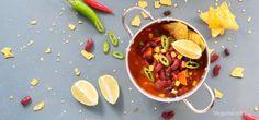 Chili sin carne (chili uten kjøtt) Snack Recipes, Snacks, Chana Masala, Thai Red Curry, Ethnic Recipes, Food, Cakes, Chili Con Carne, Tapas Food