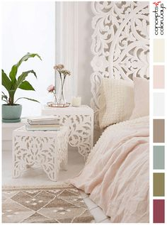 blush toned interior color palette