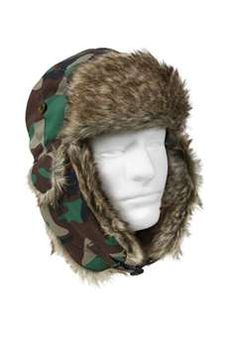 eb6fedfb74d Woodland Camouflage Fur Flyers Hat ! Buy Now at gorillasurplus.com Snow Hat