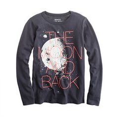 Boys' glow-in-the-dark long-sleeve moon tee