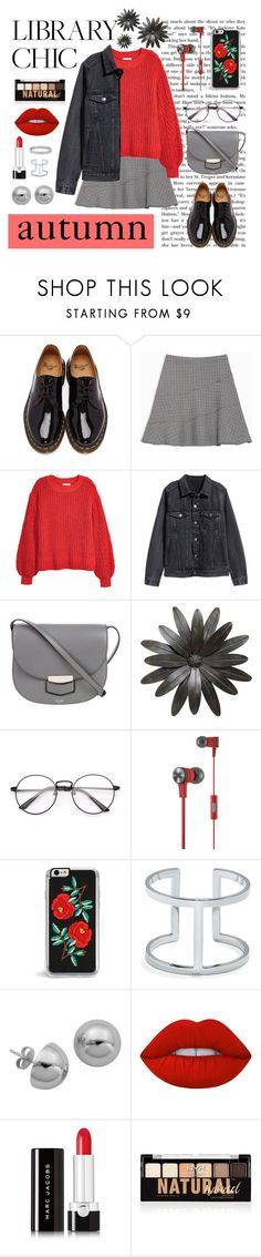 """""""Без названия #229"""" by milflu ❤ liked on Polyvore featuring Dr. Martens, Max&Co., H&M, CÉLINE, JBL, Vince Camuto, Lord & Taylor, Lime Crime, Marc Jacobs and NYX"""