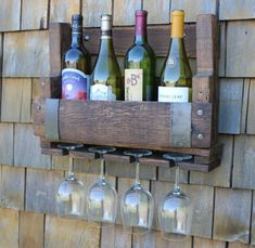 Reclaimed Wine Barrel WIne Rack Pallet Wine by BarHomeDesigns