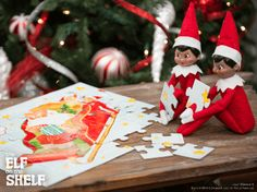 Love you to (puzzle) pieces! | Elf on the Shelf Ideas