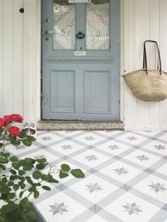painted front door & floor