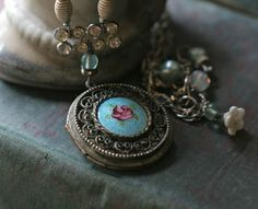 Memory Lane  assemblage necklace by crownedbygrace on Etsy, $98.00