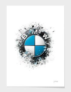 BMW Logo splatter painting