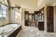 Dreaming of a elegant or designer master bathroom? We have gathered together lots of gorgeous master bathroom a few ideas for small or large budgets, including baths, showers, sinks and basins, plus master bathroom decor suggestions. Luxury Master Bathrooms, Bathroom Design Luxury, Amazing Bathrooms, Bathroom Designs, Bathroom Ideas, Bathroom Remodeling, Bathroom Inspiration, Cozy Bathroom, Master Baths