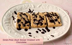 Grain-Free Shortbread Drizzled with Chocolate