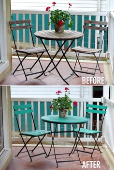 Bistro Table Refresh with Southern Living mag // Twin Stripe