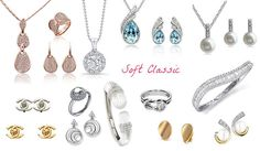 Jewelry for Soft Classic. Soft Classic Kibbe, Classic Looks, Classic Style, My Style, Deep Winter, Soft Autumn, V Shape Body, Classic Outfits, Classic Clothes