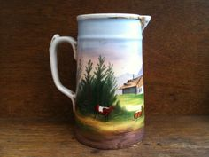 Vintage English Hand Painted Jug in the Valley with by EnglishShop, $79.00