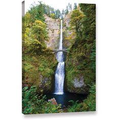 Cody York Multnomah Falls Gallery-Wrapped Canvas, Size: 24 x 36, White