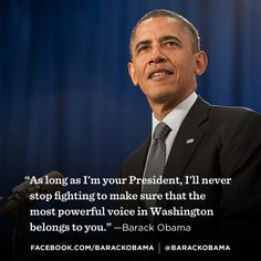 """Stand With President Obama Against  Citizens United.   """" OUR VOICES DON'T MEAN ANYTHING TO THEM."""""""