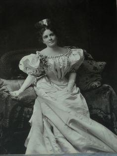 Extraordinary 1890s Dress Victorian Silk Gown Photo Wax Flowers Huge Sleeve St Louis   eBay